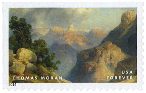 "2014 First-Class Forever Stamp - Hudson River School Paintings: ""Grand Canyon of the Yellowstone"" by Thomas Moran"