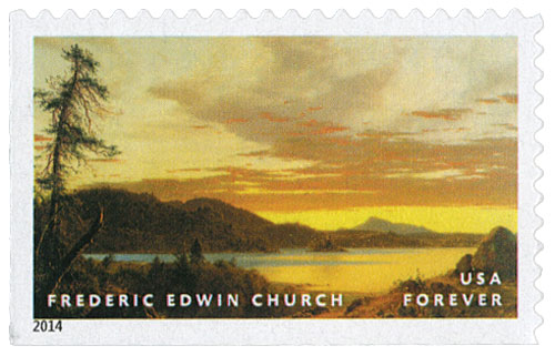 2014 First-Class Forever Stamp - Hudson River School Paintings: 'Sunset' by Frederic Edwin Church