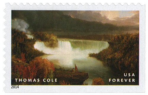 2014 First-Class Forever Stamp - Hudson River School Paintings: 'Distant View of Niagara Falls' by Thomas Cole