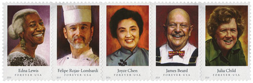 2014 First-Class Forever Stamp - Celebrity Chefs