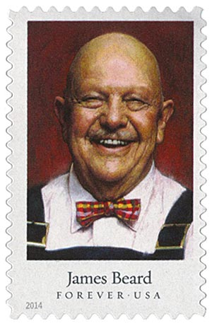 2014 First-Class Forever Stamp - Celebrity Chefs: James Beard