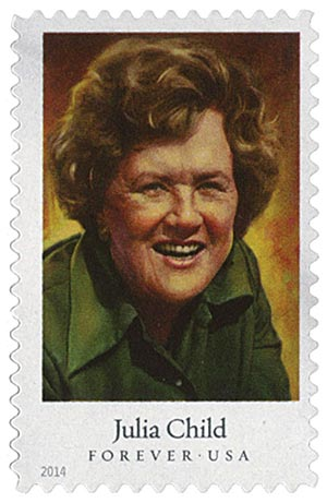 2014 First-Class Forever Stamp - Celebrity Chefs: Julia Child