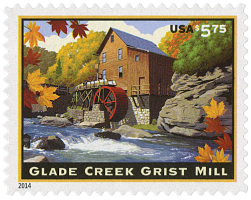 2014 $5.75 Glade Creek Grist Mill, Priority Mail