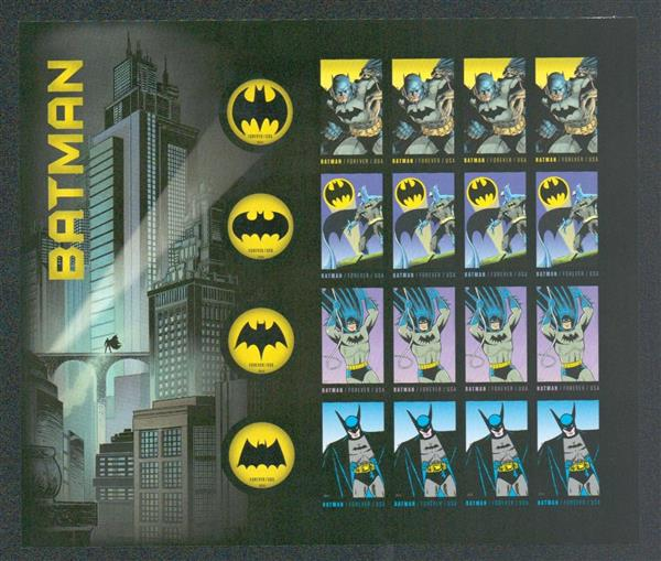 2014 First-Class Forever Stamp - Imperforate Batman