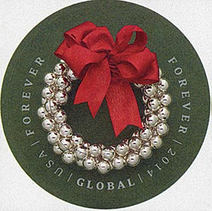 2014 $1.15 Imperf Silver Bells Wreath
