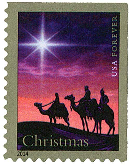 2014 First-Class Forever Stamp - Traditional Christmas: The Christmas Magi