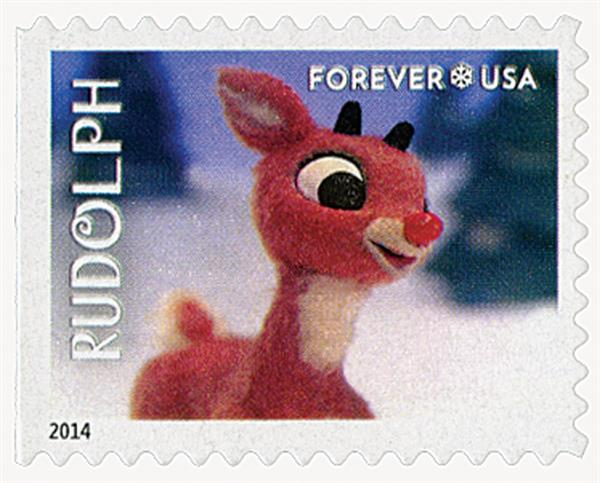 2014 First-Class Forever Stamp - Rudolph the Red-Nosed Reindeer: Rudolph