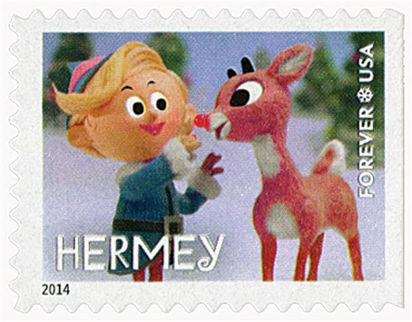 2014 First-Class Forever Stamp - Rudolph the Red-Nosed Reindeer: Hermey