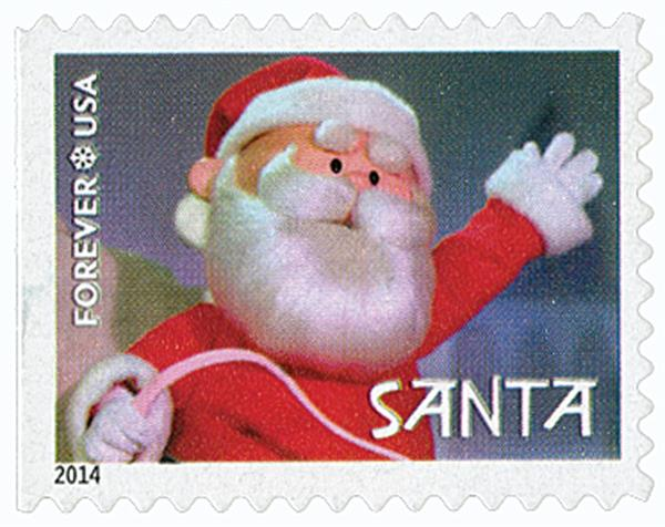 2014 First-Class Forever Stamp - Rudolph the Red-Nosed Reindeer: Santa