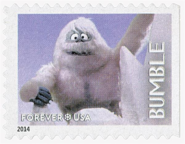 2014 First-Class Forever Stamp - Rudolph the Red-Nosed Reindeer: Bumble