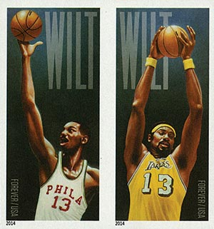 2014 First-Class Forever Stamp - Imperforate Wilt Chamberlain