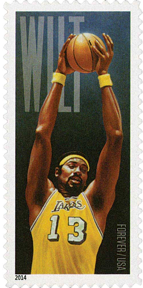 2014 First-Class Forever Stamp - Wilt Chamberlain: LA Lakers