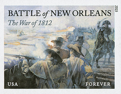 2015 First-Class Forever Stamp - Imperforate The War of 1812: The Battle of New Orleans