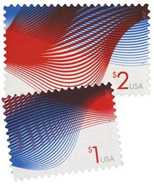 2015 Patriotic Wave, set of 2 stamps