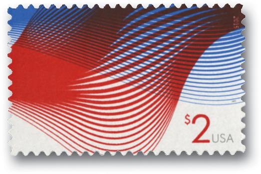 2015 $2 Patriotic Wave