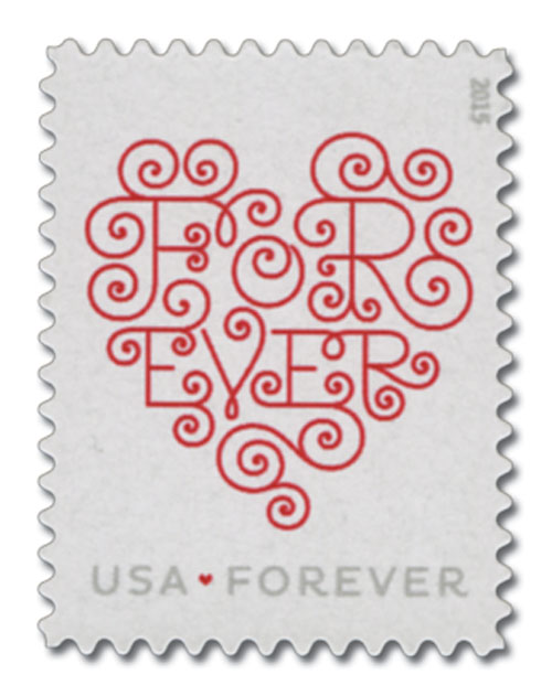 2015 First-Class Forever Stamp - Love Series: White Forever Heart