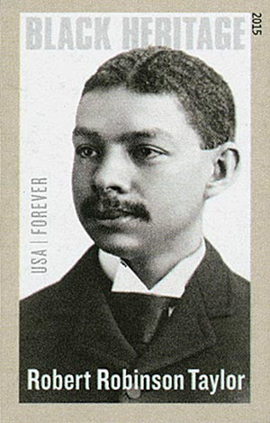 2015 First-Class Forever Stamp - Imperforated Black Heritage: Robert Robinson Taylor