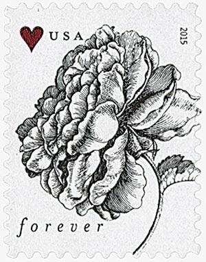 2015 Vintage Rose stamp