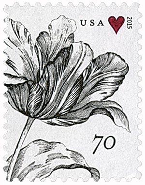 2015 70c Wedding Series: Engraved Vintage Tulip