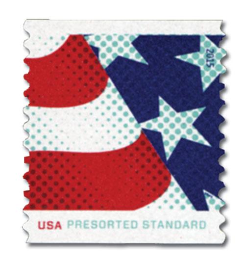 2015 10c Stars and Stripes: Stripes at Left