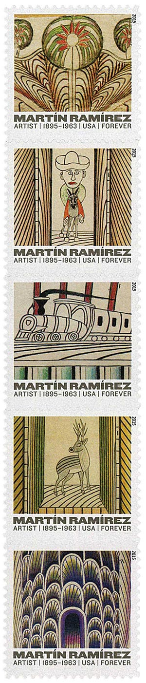 2015 First-Class Forever Stamp - Martin Ramirez (1895-1963)