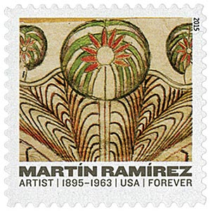 "2015 First-Class Forever Stamp - Martin Ramirez: ""Horse and Rider with Trees"""
