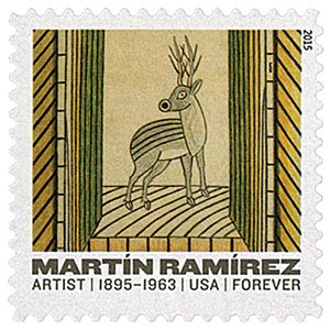"2015 First-Class Forever Stamp - Martin Ramirez: ""Deer"""