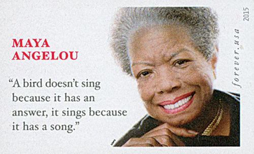 2015 First-Class Forever Stamp - Imperforate Maya Angelou