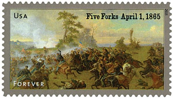 2015 First-Class Forever Stamp - The Civil War Sesquicentennial, 1865: The Battle of Five Forks