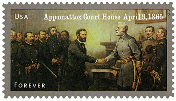 2015 First-Class Forever Stamp - The Civil War Sesquicentennial, 1865: Surrender at Appomattox Court House
