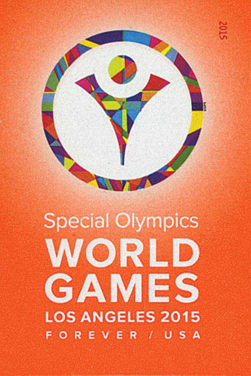 2015 First-Class Forever Stamp - Imperforate Special Olympics World Games