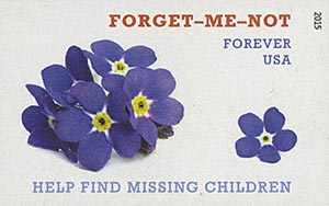2015 First-Class Forever Stamp - Imperforate Missing Children