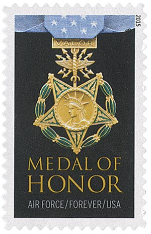 2015 First-Class Forever Stamp - The Medal of Honor: Vietnam War - Air Force