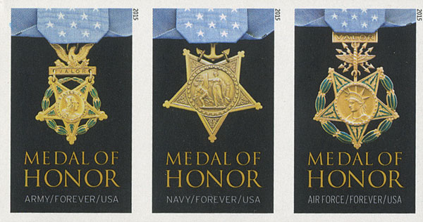 2015 First-Class Forever Stamp - Imperforate Medal of Honor: Vietnam War