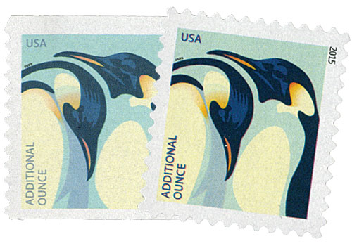 2015 22c Penguins, set of 2 stamps