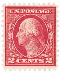 1917 2c Washington, rose, type I