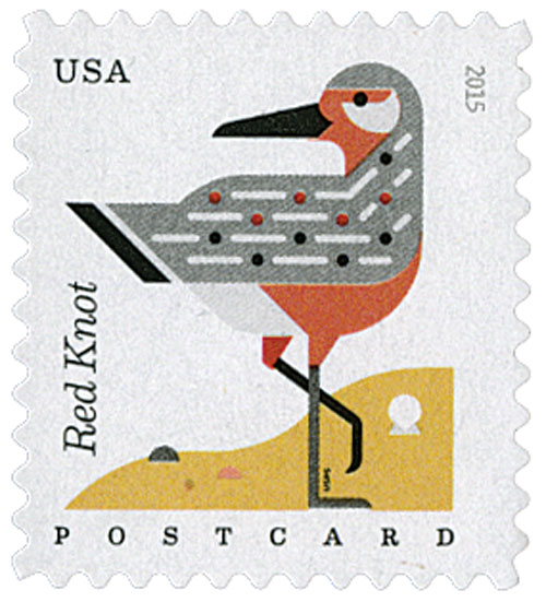 2015 35c Coastal Birds: Red Knot