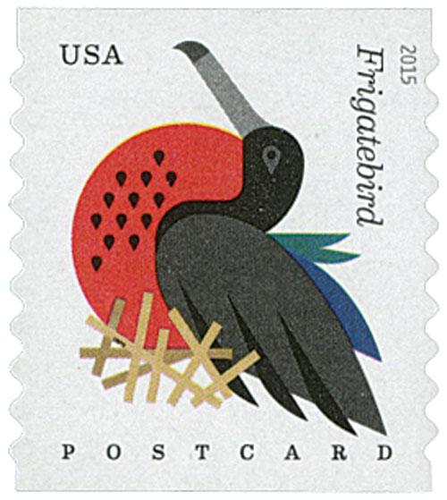 2015 35c Coastal Birds: Frigatebird, coil