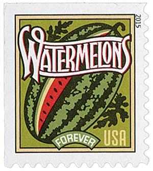 2015 First-Class Forever Stamp - Summer Harvest: Watermelons
