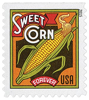 2015 First-Class Forever Stamp - Summer Harvest: Sweet Corn