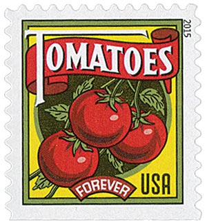 2015 First-Class Forever Stamp - Summer Harvest: Tomatoes