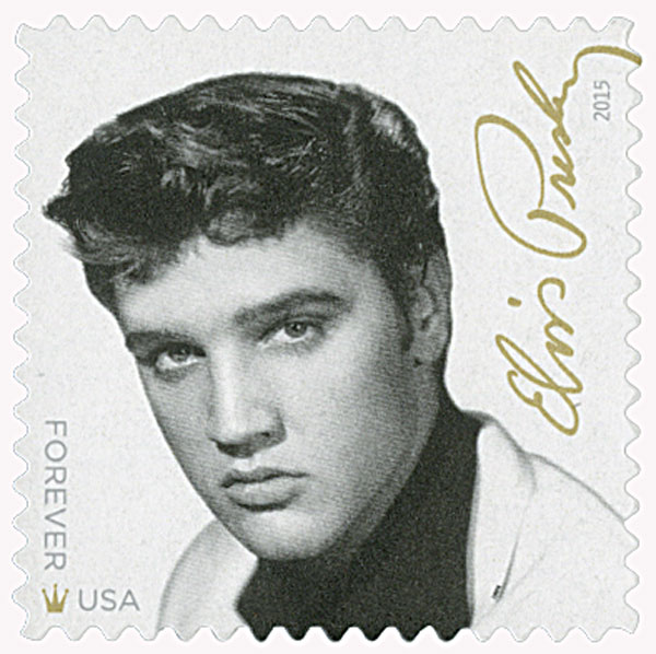 2015 First-Class Forever Stamp - Music Icons: Elvis Presley