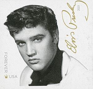2015 First-Class Forever Stamp - Imperforate Music Icons Series: Elvis Presley