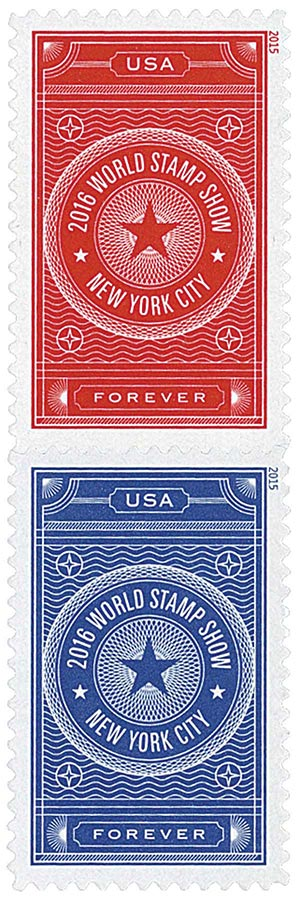 2015 First-Class Forever Stamp - 2016 World Stamp Show, New York City