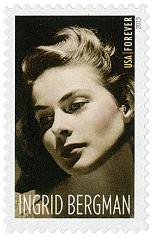 2015 First-Class Forever Stamp - Legends of Hollywood: Ingrid Bergman