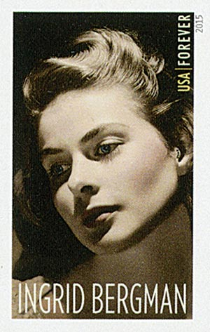 2015 First-Class Forever Stamp - Imperforate Legends of Hollywood: Ingrid Bergman
