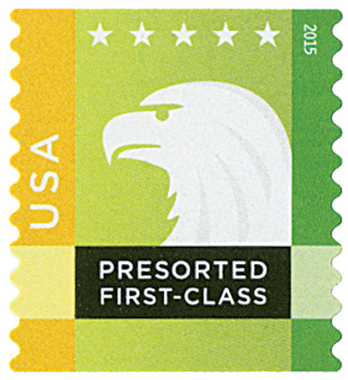 2015 25c Spectrum Eagle: Yellow behind USA, coil