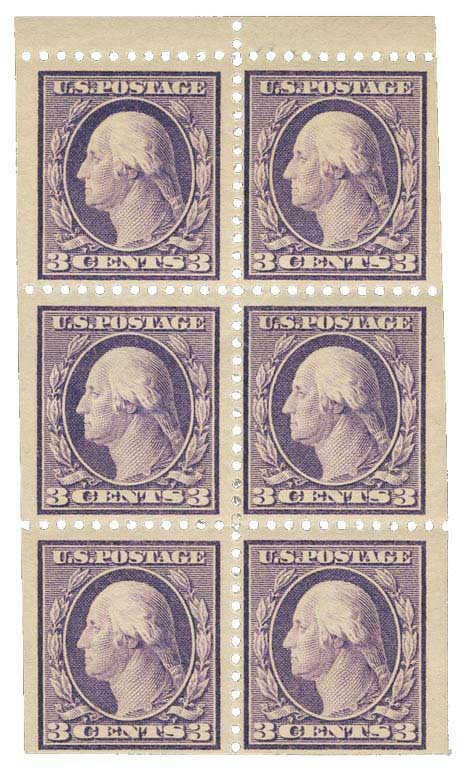 1918 3c Washington  violet t2