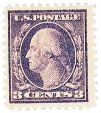 1918 3c Washington, violet, type II