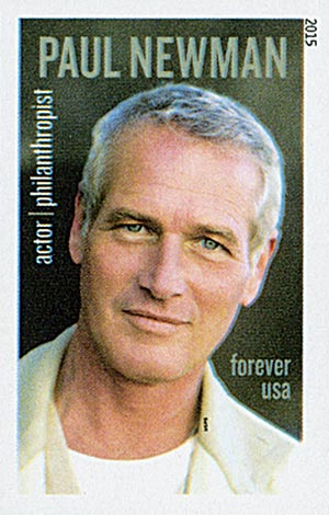 2015 First-Class Forever Stamp - Imperforate Paul Newman